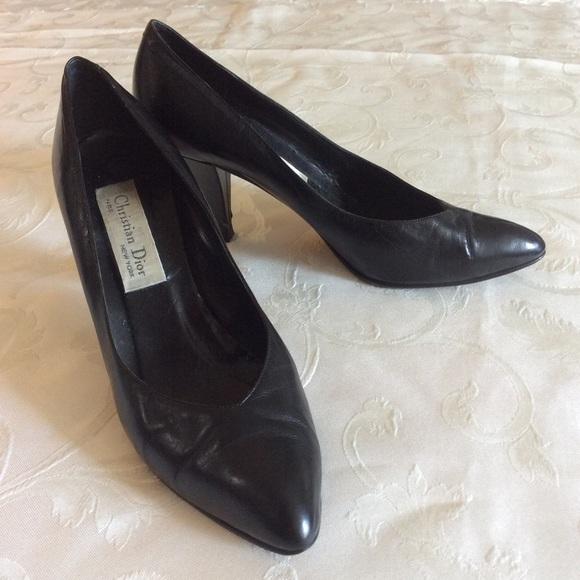 Vintage Dior Black Pumps   Poshmark